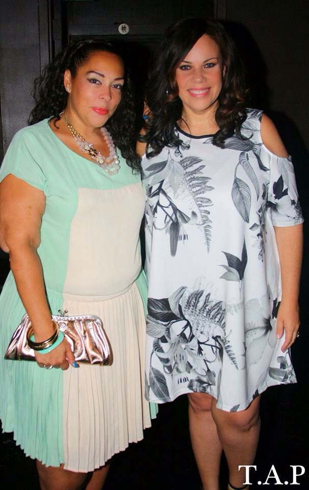 Me with Latina Entrepreneur Madeline Jones Editor of Plus Model Magazine