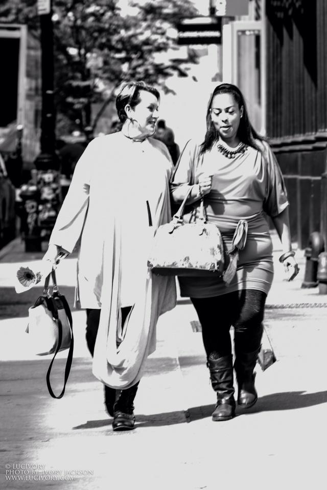 Curvy girls in Soho NYC image taken by Ivory Jackson